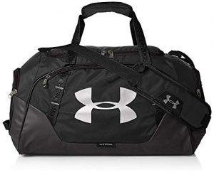 Under Armour Undeniable Duffle 3.0 Gym Bag, Black (001)/Silver, Medium