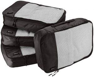 amazonbasics 4 piece packing travel organizer cubes set medium black 300x247 - The Ultimate Travel Packing Checklist