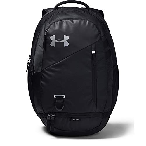 Under Armour Hustle 4.0 Backpack, Black (001)/Silver, One Size Fits All