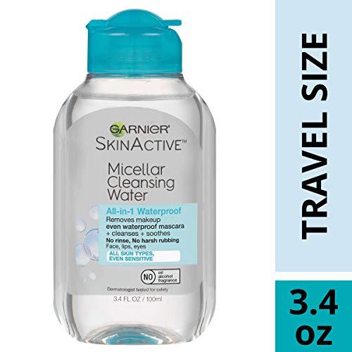 Garnier SkinActive Micellar Cleansing Water, For Waterproof Makeup,  3.4 fl. oz.