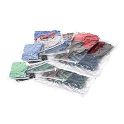 Samsonite Compression Bags 12-Piece Kit (2 Pouch, 4 Carry-on, 4 Large, 2 XL), Clear