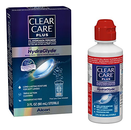 Clear Care Plus Cleaning and Disinfecting Solution, Travel Pack, 3-Ounces