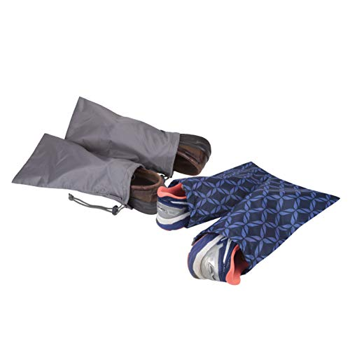 Travelon 2 Pairs of 2 Shoe Covers, Rope Weave/Charcoal