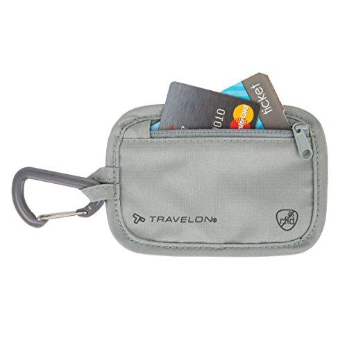 Travelon Rfid Blocking Clip Stash Pouch, Gray