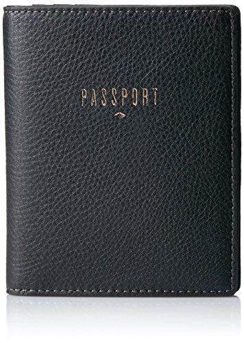 Fossil Women's RFID Passport CASE Wallet, Black, One Size