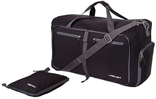 "41tlUZfYu8L. AC SY1000 1 - Bago 60L Packable Duffle bag - 23"" Foldable Travel Duffel bag (Black)"