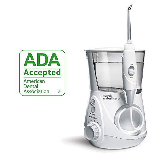 Waterpik Water Flosser Electric Dental Countertop Oral Irrigator for Teeth – Aquarius Professional, WP-660/660C, White