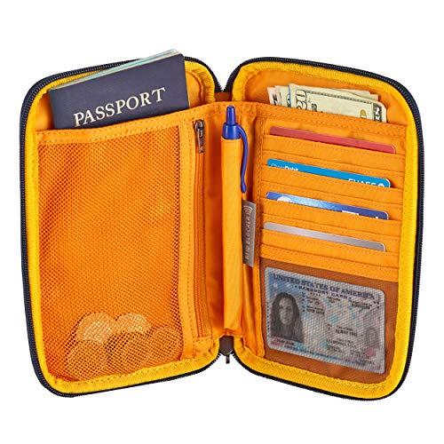 51hOW8pIjkL1 - Eagle Creek Unisex-Adult's RFID Travel Zip Organizer, Sahara Yellow