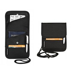 Travelon Folding Id and Boarding Pass Holder, Black, One Size