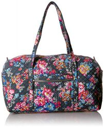 Vera Bradley Iconic Large Travel Duffel, Signature Cotton, Pretty Posies