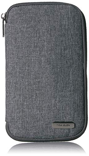 Travelon RFID Blocking Family Passport Zip Wallet, Gray Heather