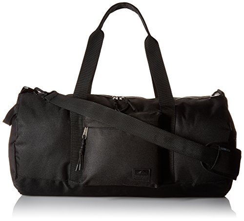 Steve Madden Men's Solid Nylon Duffle, deep black, One Size
