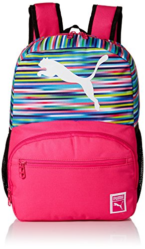 PUMA Girls' Little, Lunch Boxes, and Bags, Backpack Pink/Multi, Youth
