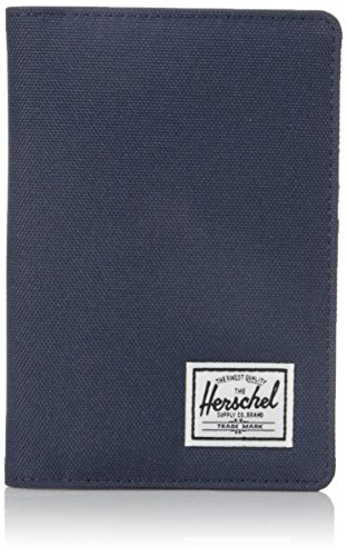 Herschel Men's Raynor RFID Passport Holder, Navy/Red, One Size