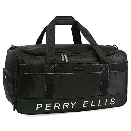 Perry Ellis 22″ Weekender Duffel Bag, Black