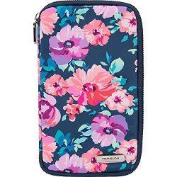 Travelon RFID Blocking Family Passport Zip Wallet, blossom Floral