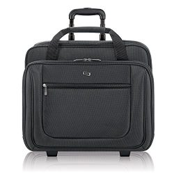 Solo New York Bryant Rolling Laptop Bag. Rolling Briefcase for Women and Men. Fits up to 17.3 inch laptop – Black