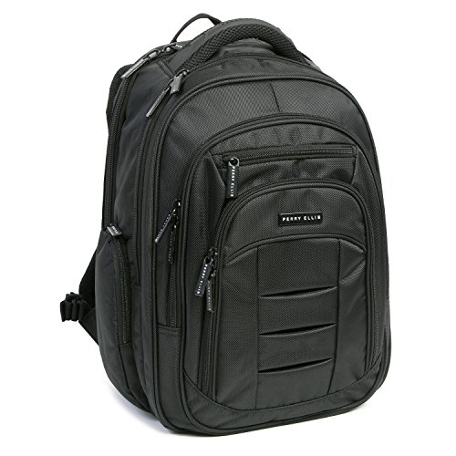 Perry Ellis M150 Business Laptop Backpack, Black