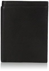 Buxton Men's RFID Blocking Passport Wallet, Black, One Size