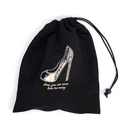 Miamica Women's Shoe Bag with Clear Window, Black W