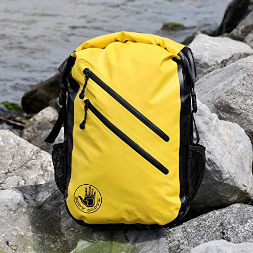 Body Glove Seaside Waterproof Floatable Backpack-Yellow, One Size