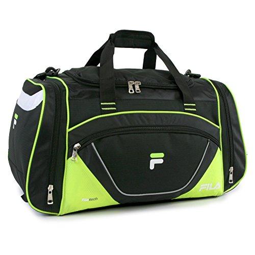 Fila Acer 25″ Sport Duffel Bag, Black/Neon Green