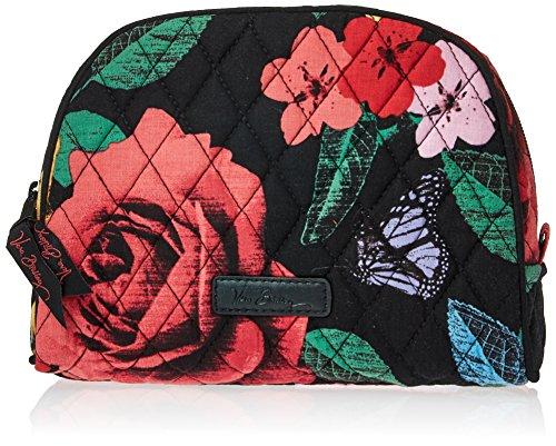 Vera Bradley Women's Signature Cotton Medium Zip Cosmetic Makeup Bag, Havana Rose, One Size