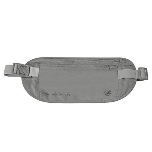 Travelon RFID Blocking Undergarment Waist Pouch, Gray