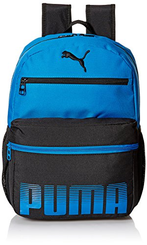 PUMA Boys' Little Backpacks and Lunch Boxes, Blue/Black, Youth
