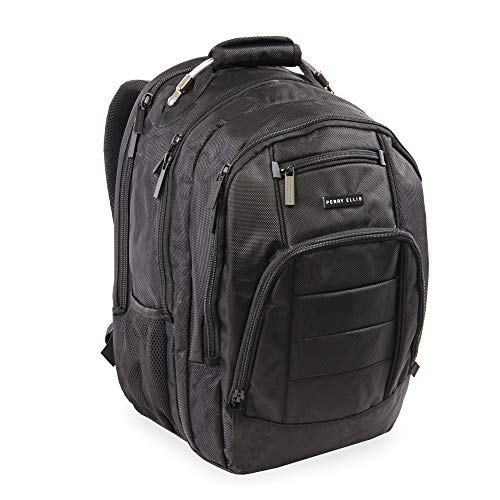 Perry Ellis M200 Business Laptop Backpack, Black
