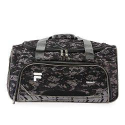 Fila Source Sm Travel Gym Sport Duffel Bag, Black Digi Camo