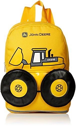 John Deere Little Kids Boys Girls Toddler Backpack, CONSTRUCTION YELLOW, One Size