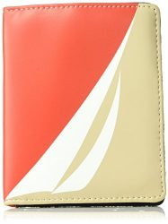 Nautica Pier 83 RFID Deluxe Passport Travel Wallet, chili print/indigo