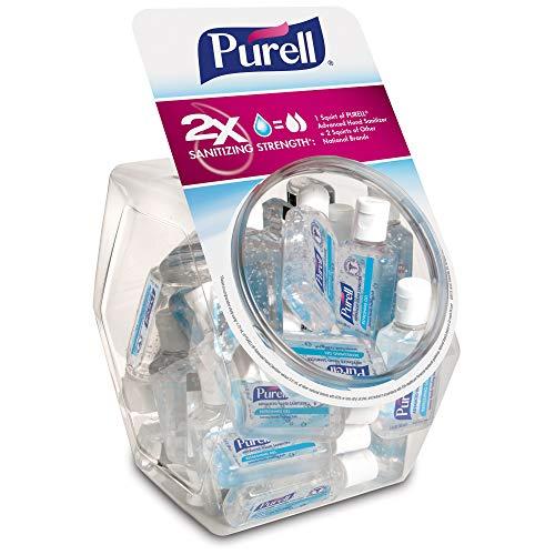 PURELL Advanced Hand Sanitizer, Refreshing Gel, 36 – 1 fl oz Portable, Travel Sized Flip Cap Bottles with Display Bowl – 3901-BWL