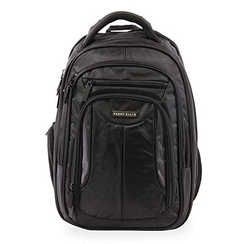 Perry Ellis M160 Business Laptop Backpack, Black