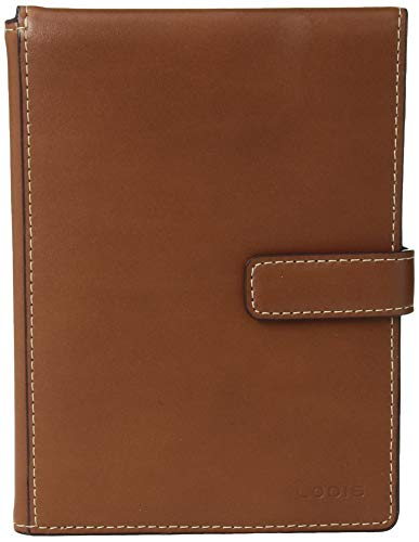 Lodis Audrey RFID Passport Wallet with Ticket Flap, sequoia/papaya