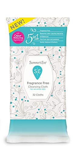 Summer's Eve Cleansing Cloths   Fragrance Free   pH-Balanced   32 Count (Pack of 1)