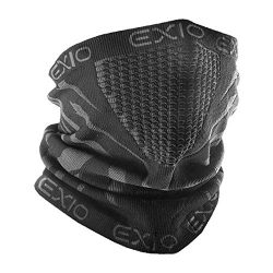 EXIO Winter Neck Warmer Gaiter/Balaclava (1Pack or 2Pack) – Windproof Face Mask for Ski, Snowboard
