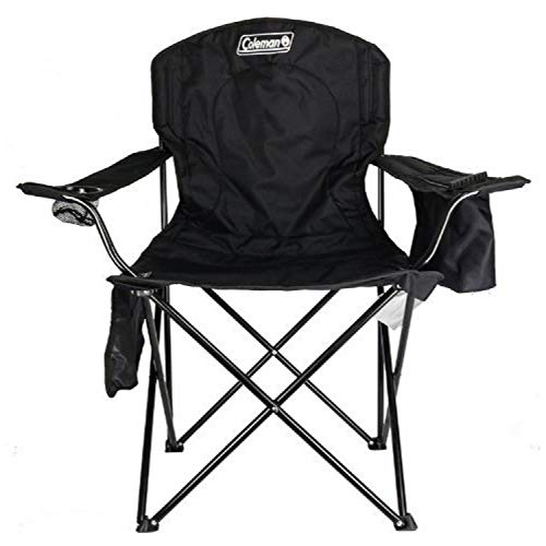 Coleman Camping Chair with 4 Can Cooler | Chair with Built In 4 Can Cooler, Black