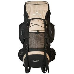 TETON Sports Scout 3400 Internal Frame Backpack; High-Performance Backpack for Backpacking, Hiking, Camping; Coyote Tan, 30″ x 17″ x 12″ (121T)